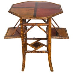 Victorian Bamboo Chinoiserie Side Table