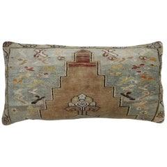 Turkish Oushak Floor Rug Pillow