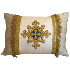 Antique Italian Stemma Pillow by Eleganza Italiana