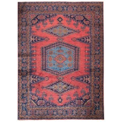 Persian Hand-Knotted Geometric Medallion Viss Rug