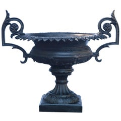 1880 Fiske Cast Iron Twin Handled Urn