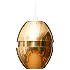 1950s Brass Perforated 'Egg' Pendant by Hans-Agne Jakobsson