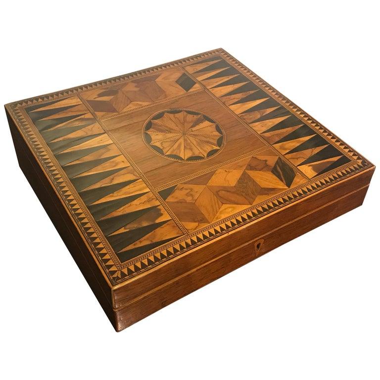 Antique Mid-19th Century Inlaid Desk Box