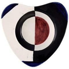 Rörstrand / Rørstrand, Heart-Shaped Bowl of Stoneware, Retro, Modern Design