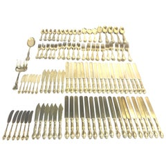 Richelieu Gold Vermeil by Tiffany Sterling Silver Flatware, 196 Pieces