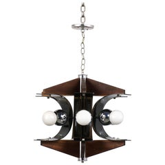 Mid-Century Modern Six-Light Chandelier