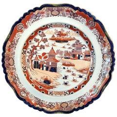 Six Iron Red Masons Ironstone Chinoiserie Dinner Plates