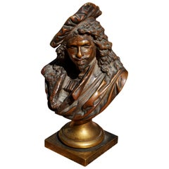Albert Ernest Carrier-Belleuse Bronze Bust of Rembrandt