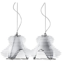 SLAMP Faretto Double Pendant Light in White by Nigel Coates
