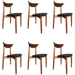 Danish Teak Dining Chairs by Harry Ostergaard, 1960s Set of Six
