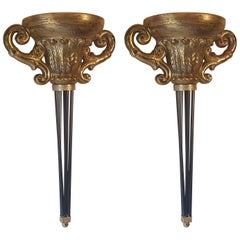 Two Lacquered Lamps from Italy
