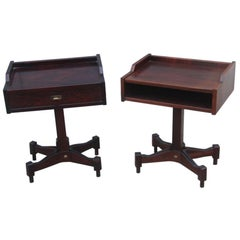 Pair of Nightstands Claudio Salocchi for Sormani, 1960s Italian design Rosewood