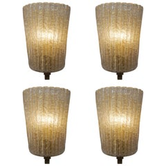 Set of Four Murano Glass Wall Sconces