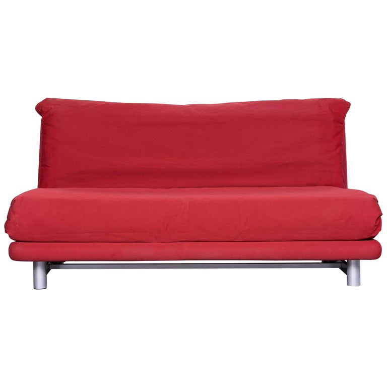 ligne roset multy fabric sofa bed red two seat couch sleep function at 1stdibs. Black Bedroom Furniture Sets. Home Design Ideas
