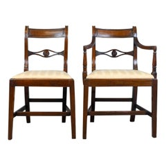 Set of Six, Antique, Dining Chairs, Regency, Mahogany, circa 1820