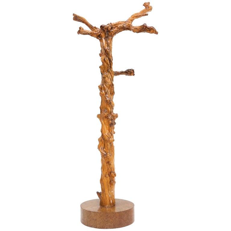 Mid Century Modern Grape Wood Coat Rack For