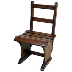 Italian Vintage Wooden Children's Chair from Maternal School, 1950s