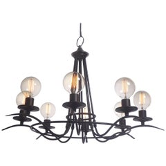 Simple and Elegant Eight-Bulb Chandelier