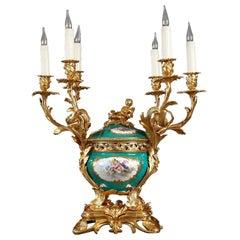 Refined Ormolu Porcelain Centerpiece by Sèvres