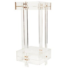 1970s Perspex Two-Tiered Side Table