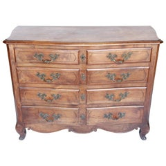French Five-Drawer Oak Commode