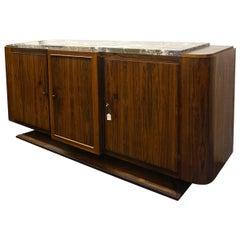 Large Original Palisander Art Deco Sideboard Art Deco French Cabinet, circa 1925