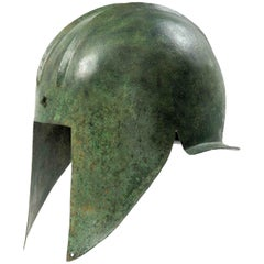 Ancient Greek Bronze Helmet of a Warrior, Illyrian Type, 6th-5th Century BC