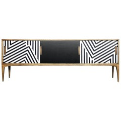 Mid-Century Modern Belgian Sideboard with Pattern, 1960s
