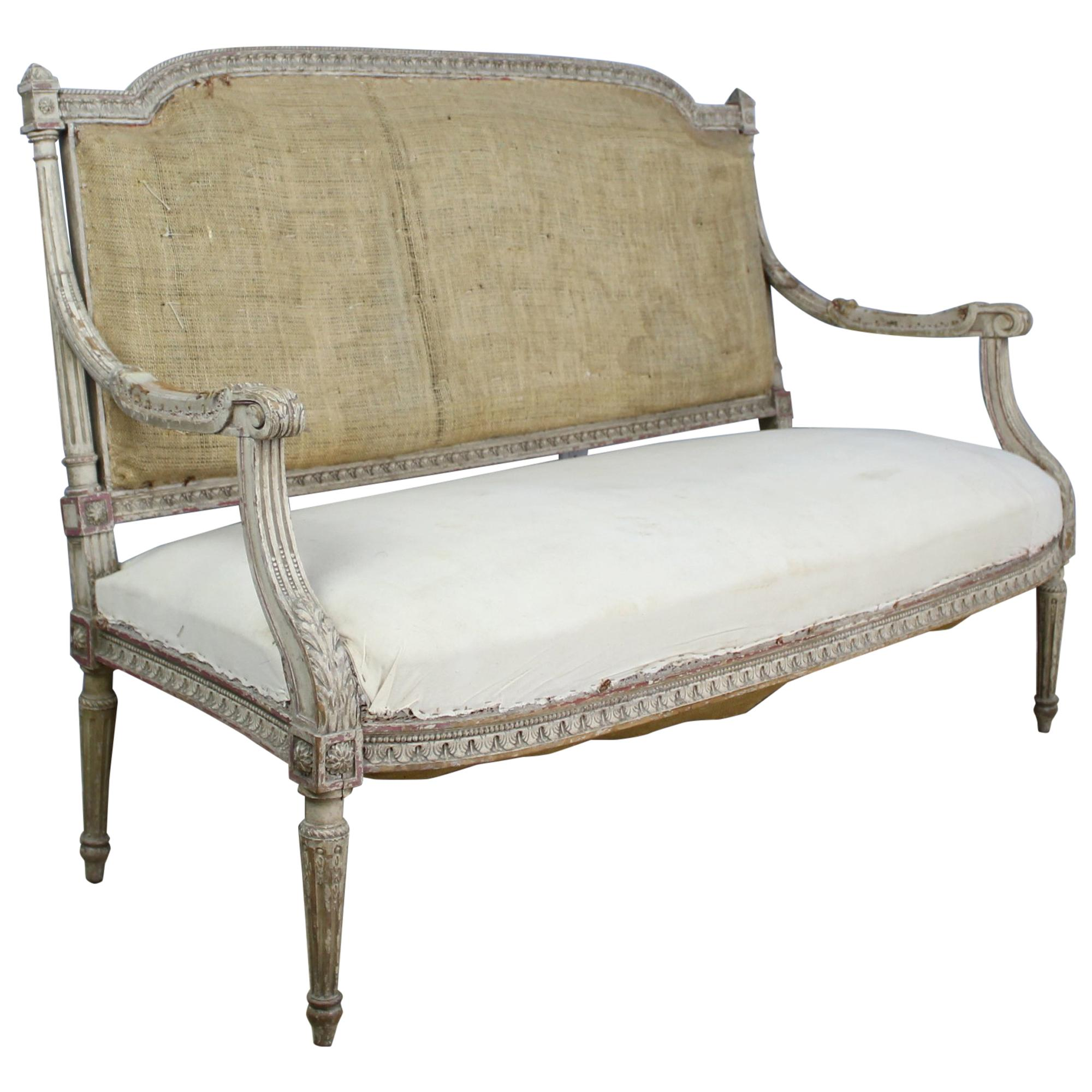 Delicieux Gustavian Sofa, Original Horsehair Stuffing And Original Paint For Sale