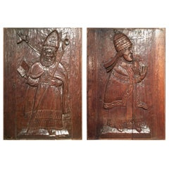 Pair of Late 17th Century Carved Oak Panels