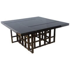 Charles Rennie Mackintosh Style Black Lacquer Coffee Table