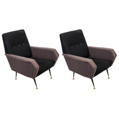 Pair of 1960s Italian Armchairs in the Manner of Marco Zanuso