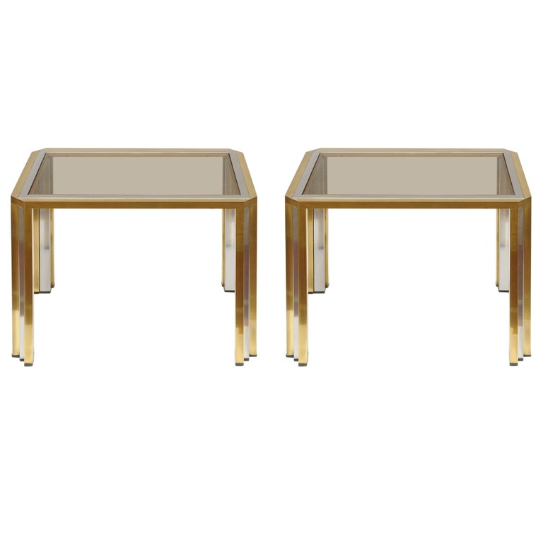 Pair of Side Tables Attributed to Willy Rizzo