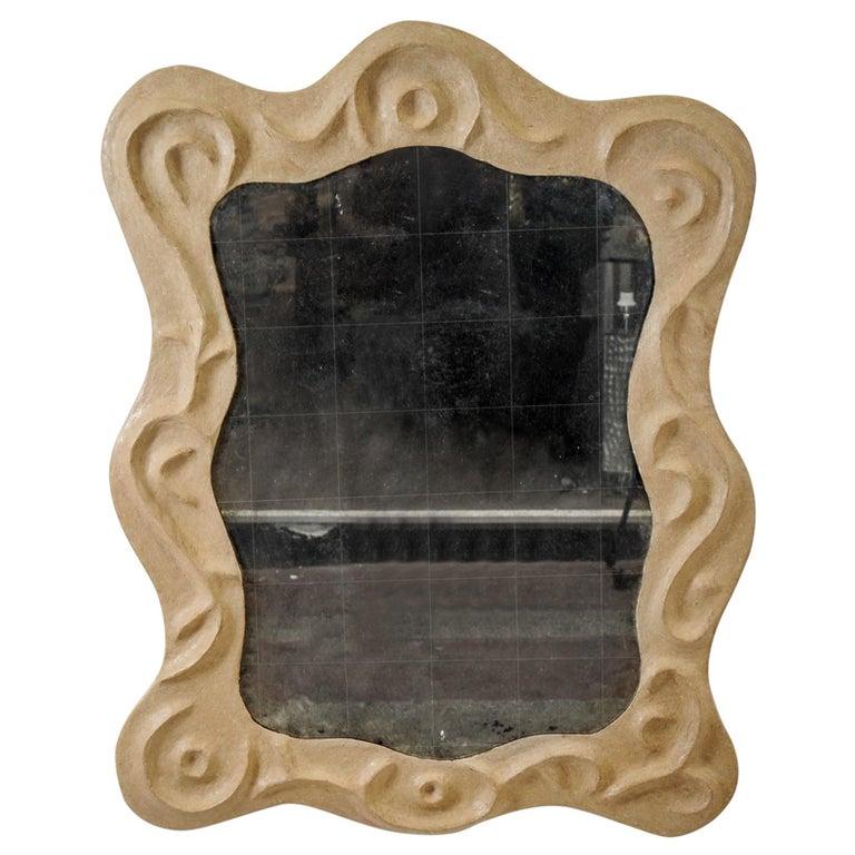 """1980s """"Barocco"""" Carton Mirror in the Style of Garouste & Bonetti For Sale"""