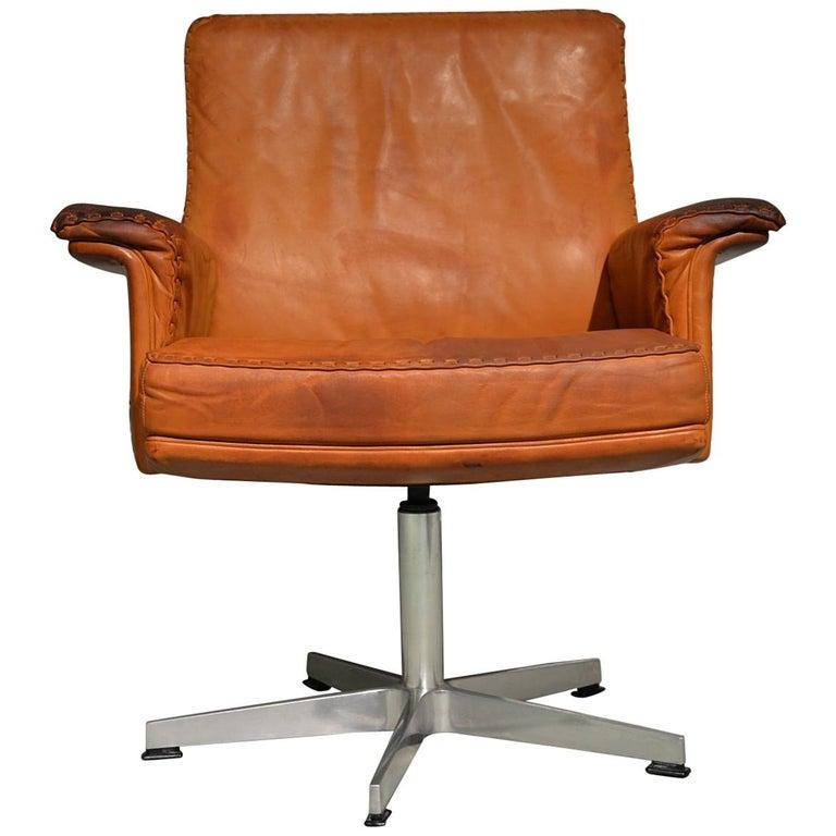 Vintage De Sede DS 35 Executive Swivel Desk Armchair, 1960s