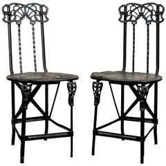 Pair of Art Nouveau Side Chairs, circa 1890