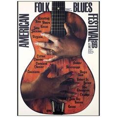 American Folk Blues Festival Poster Gunther Kieser