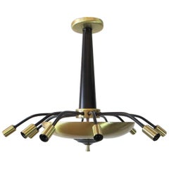 Black and Brass Flush Mount