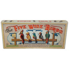 1940s Five Wise Birds Parker Brothers Target Game