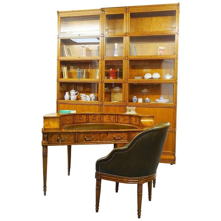 Office Furniture Combination Shelf Wall Desk Armchair, Globe Wernicke Design