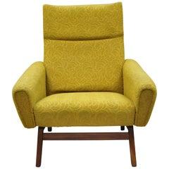 Vintage Mid-Century Modern Danish Walnut Club Lounge Chair Adrian Pearsall Style