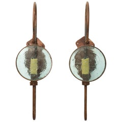 Pair of Old Iron Sconces