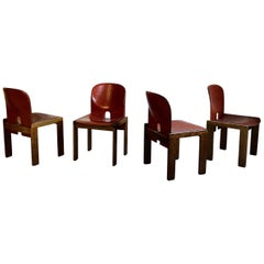 """Afra & Tobia Scarpa Midcentury """"121"""" Dining Chair for Cassina, 1965, Set of Four"""