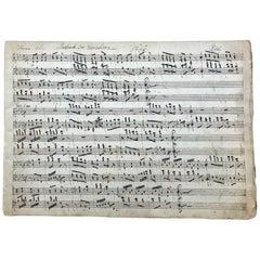 18th Century Handwritten Music, Piano Manuscript, Mozart, Pleyel