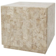 """Tessellated Stone """"Searfoss"""" Square Side Table, 1990s"""
