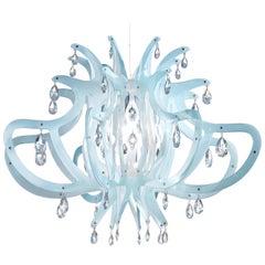 Slamp Medusa Pendant Light in Blu Gel by Nigel Coates