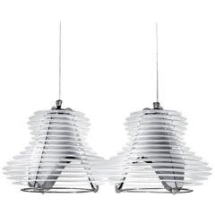 Slamp Faretto Double Pendant Light in White by Nigel Coates