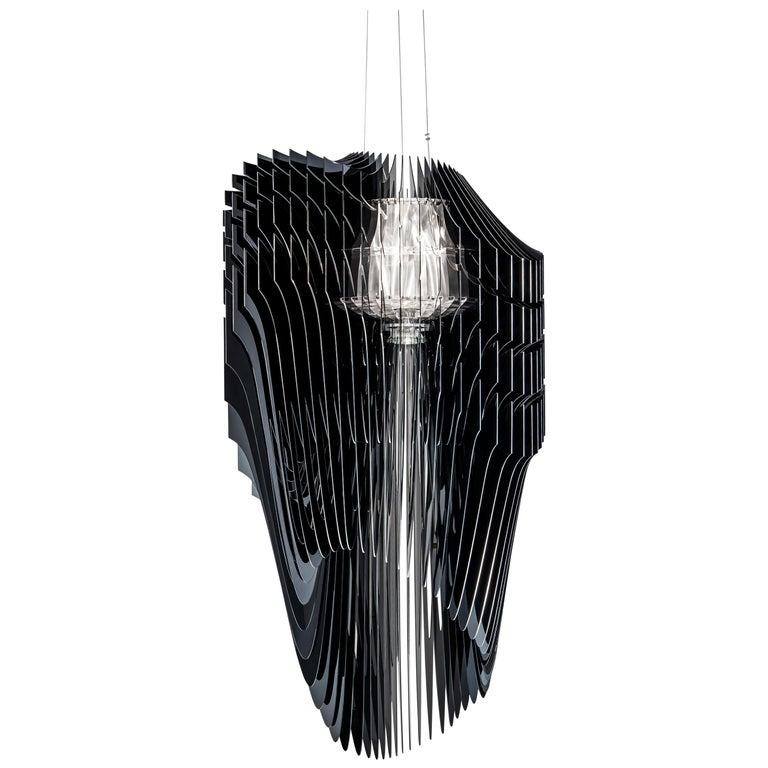 Slamp Avia Extra Large Pendant Light in Black by Zaha Hadid