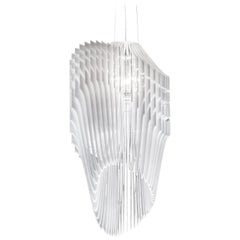 Slamp Avia Medium Pendant Light in White by Zaha Hadid