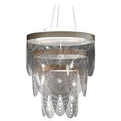 Slamp Ceremony Small Pendant Light in Fumé by Bruno Rainaldi